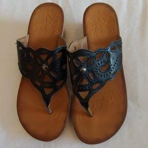 CLARK'S Cork Wedge Sandals
